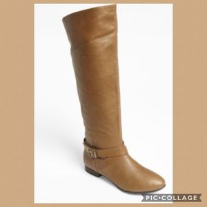 Chinese laundry congac wide calf leather boots